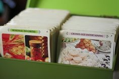 i love the idea of recipe cards with pictures on the front