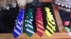 Harry Potter house ties. Made from felt.