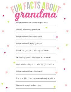 Mother's Day Printable for Grandma - The Girl Creative