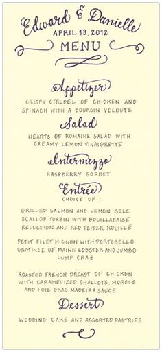 wedding menu templates for free wedding pinterest wedding