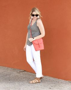 white jeans outfit for summer