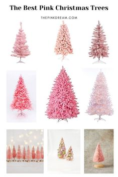 The Best Pink Christmas Trees for the Pink Lovers. VSCO Christmas, Gingerbread h. The Best Pink Ch Pink Christmas Tree Decorations, Diy Christmas Garland, Pink Party Decorations, Christmas Signs Wood, Simple Christmas, Vintage Christmas, Christmas Trees, Silver Christmas, Christmas Holidays