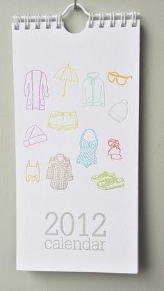 2012 letterpress calendar.