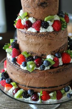 Mennonite Girls Can Cook: Chocolate Tiered Cake with Berries