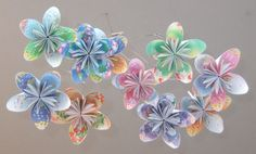Flower baby mobile custom mobile paper flower mobile paper flower floral fantasy origami flower mobile by katiemommy on etsy mightylinksfo