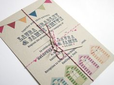 Beach Hut Wedding Invitation Eco
