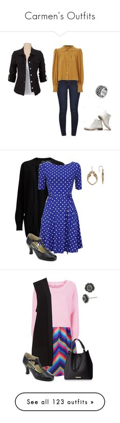 """""""Carmen's Outfits"""" by brelea-1 ❤ liked on Polyvore featuring Dorothy Perkins, Jane Norman, Object Collectors Item, Funtasma, Lucky Brand, Topshop, Betsey Johnson, Warehouse, Old Navy and H&M"""