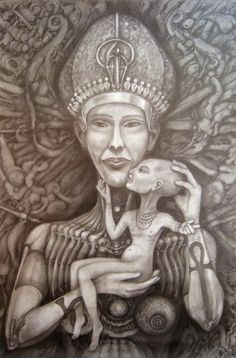 UFOLOGIA - OVNIS ONTEM: Extraterrestre Akhenaton e Nefertiti, os Deuses do...