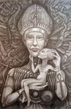 Extraterrestre Akhenaton e Nefertiti, os Deuses do Crânio Alongado