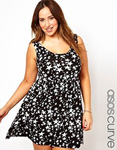 Image 1 of ASOS CURVE Sundress In Star Print