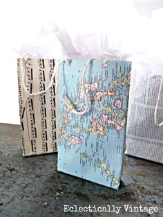 'EASY DIY Gift Bags using any paper you probably already have in your house.'