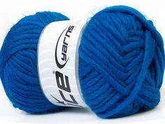 Wool Yarn Royal Blue Virgin Felt Wool Ice Yarn Chunky Yarn