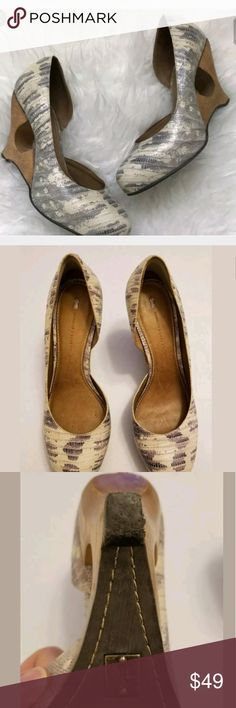 Anthropologie Schuler & Sons Leather Round Toe Pum Good used condition, SO SUPER STYLISH and you will likely not ever see a other pair on someone else :) I love these shoes! See pics for details and condition. Anthropologie Shoes Heels