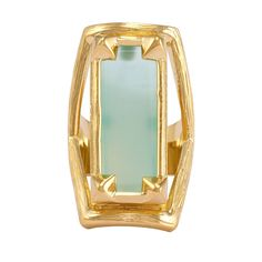 Fenton Ring Gold Aqua Onyx