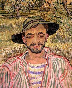 Portrait of a Young Peasant, 1889 by Vincent van Gogh. Post-Impressionism. portrait