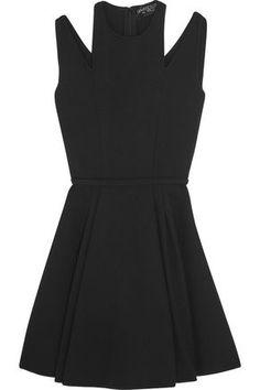 GIAMBATTISTA VALLI WOMAN CUOUT CREPE MINI DRESS BLACK. #giambattistavalli #cloth #