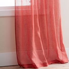 Coral Curtains Or Drapes Twisted Curtain X Coral - Coral colored curtain panels