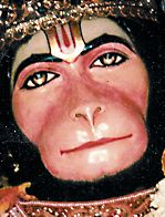 HANUMAN: Sanskrit: हनुमान, Hanumān means a monkey; not just any monkey, but the divine example of pure devotion. If we can not stop the monkey mind, then at least we can tune to the vision of the divine monkey. http://www.shreemaa.org/worship-of-hanuman/