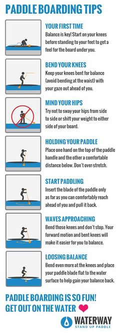 Paddle Boarding Tips. Learn to paddle board! Top tips for headed out on an #SUP. Love, Like, Pin! #kayakingforbeginners