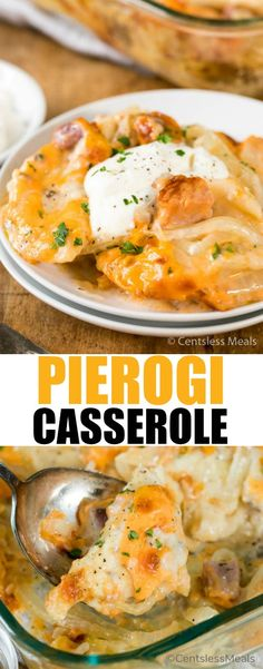 Pierogi Casserole is a delightful and fun way to bring traditional pierogies to your table without all the fuss! Tender pierogies covered in a creamy mushroom sauce with ham, onions and cheese provides a little bit of comfort in every bite!