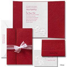 Apple Blossoms Wedding Invitation - Snow White