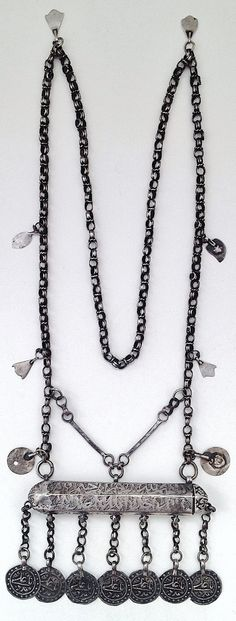 A woman's amulet necklace.  From East Kurdistan (northern Iraq or western Iran).  Ca. late 19th century. (Source: Angelo Filomeno).