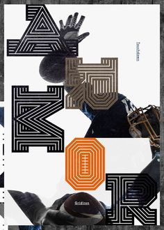 Gridiron typeface by Non-Format , via Behance