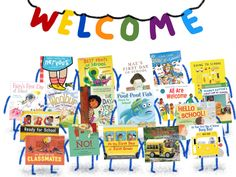 2018 Back to School Books' First Day of School Starting School, Beginning Of School, New School Year, First Day Of School, Back To School, Pout Pout Fish, School Readiness, One Day, Notes