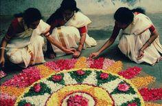 Pookkalam(Flowercarpet) ,Onam (Harvest Festival)#Kerala