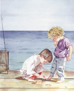 """Little Fishermen"" ~ by Pomm's Studio"