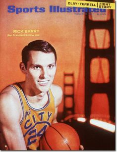 """""""The Razor Cut Idol of San Francisco""""  Rick Barry, #24 San Francisco Warriors, on the cover of Sports Illustrated, 1967."""
