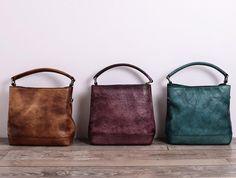 Perfect gift for sister. Shoulder Bags – Women Leather Handbag Shoulder Bag – a unique product by Jiejiey via en.DaWanda.com