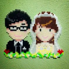 Couple wedding perler beads by anti_wick