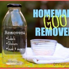 Homemade Goo on Pinterest   Goo Gone, Homemade Shout and Remove ...