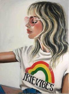 "Saatchi Art Artist Maria Folger; Painting, ""Irie vibes"" #art"
