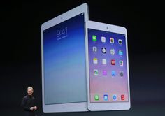 Apple CEO Tim Cook introduces the new iPad Air/ iPadmini retina on in San Francisco. Apple Live, Apple New, Ipad Air 2, Apple Press, Apple Launch, Mobile Gadgets, Technology Updates, Ios 7, Retina Display