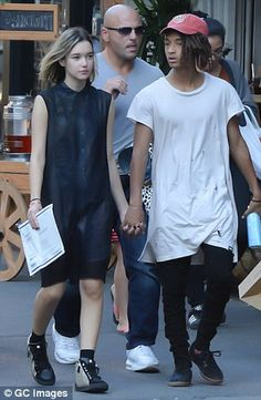 Jaden Smith locks lips with his beaming blonde beau at NYFW show #dailymail