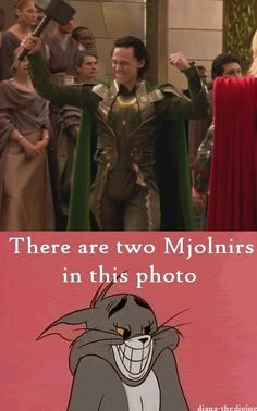 Loki doesn't need to possess Thor's hammer because he has a Mjolnir of his…
