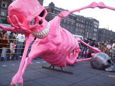 huge paper mache skeleton