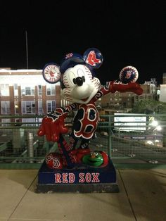 Mickey from the Anaheim All Star Game at Fenway!