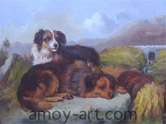 AA04DG001 (7)-Dog-China Oil Painting Wholesale | Portrait Oil Painting| Museum Quality Oil Painting Reproductions