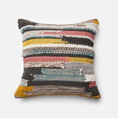 Loloi Multicolor 22 Inch Decorative Pillow With Poly Insert Psetp0094ml00pil3 | Bellacor