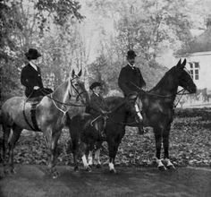 From left: Queen Maud, Crown Prince Olav, and King Haakon of Norway, 1912