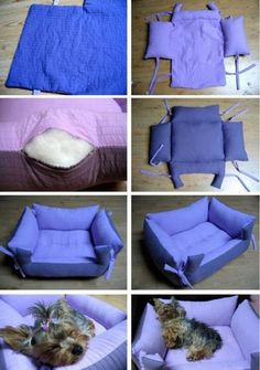 DIY a pet's bed, or a place for the dolls or stuffed animals to sit, or even a toddler chair if some foam is used to lift the seat!