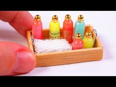 Miniature Soap Bottle DIY ~ Dollhouse DIY - YouTube