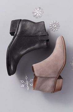 Suede ankle boots, taupe/gray