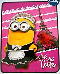 Despicable Me Minions Pink Tres Tres Cute Fleece Throw by Universal @ niftywarehouse.com #NiftyWarehouse #Minions #DespicableMe #Minion #Movie #Movies #Kids