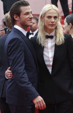Gaspard Ulliel, Aymeline Valade #SaintLaurentPremiere #Cannes2014