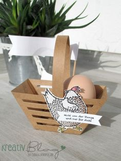 Kreativ Blog by Claudi Stampin Up, Hexagon Box, Print And Cut, Easter Baskets, Cardmaking, Craft Projects, Paper Crafts, Place Card Holders, Big Shot