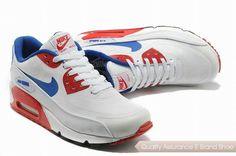 1d224d3b73d nike air max 90 prem tape sn mens blue and red sneakers p 2672